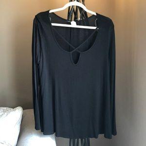 Sweet Clare Black Knit Shirt